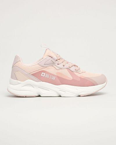 Różowe sneakersy na platformie sznurowane Big Star