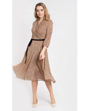 Шифоновое платье с запахом со складками с завязками Filigrana