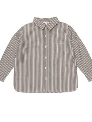 Brązowy klasyczny bawełna bawełna koszula Caramel