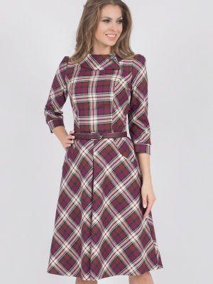 Платье миди осеннее оливковый Olivegrey