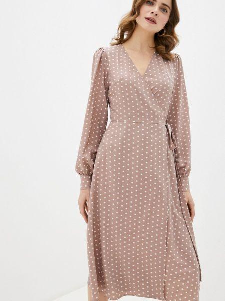 Платье с запахом бежевое Imocean