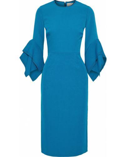 Платье с драпировкой - бирюзовое Roksanda