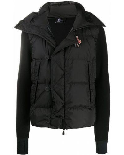 Klasyczna czarna kurtka puchowa pikowana Moncler