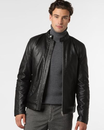 Czarna kurtka skórzana Lindbergh