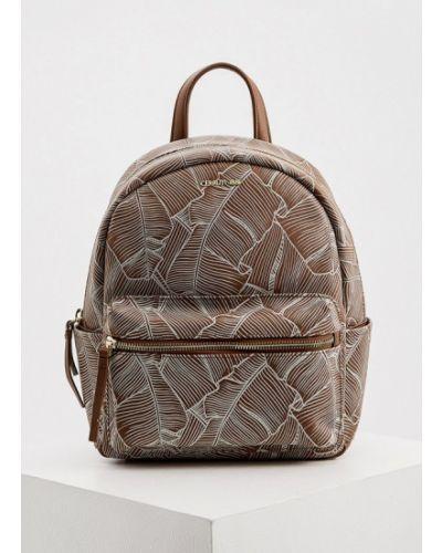 Кожаный коричневый городской рюкзак Cerruti 1881