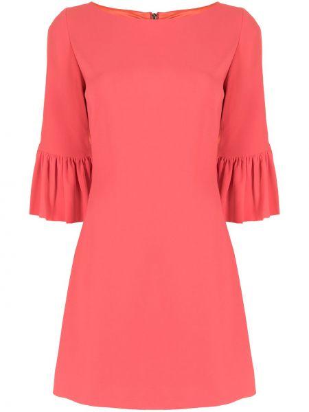 Прямое с рукавами розовое платье мини Ginger & Smart