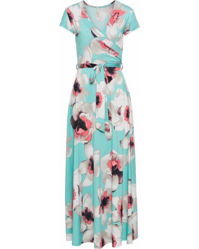 Летнее платье с запахом с цветочным принтом Bonprix
