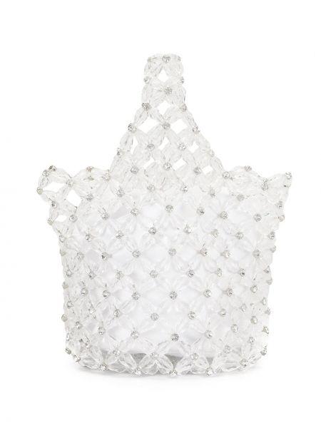 Кожаная сумка-тоут с бисером на шнурках Simone Rocha