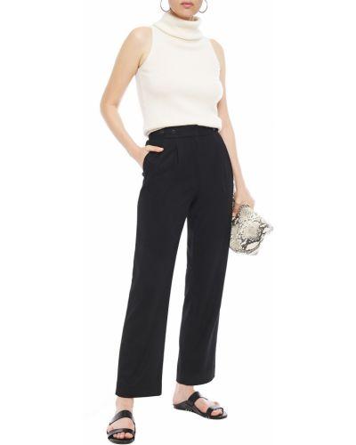 Czarne spodnie wełniane zapinane na guziki Rag & Bone