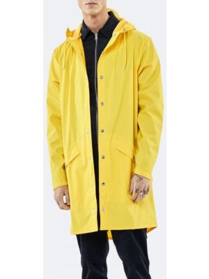 Желтая длинная куртка Rains