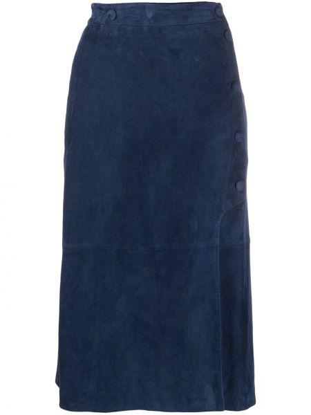 Прямая с завышенной талией кожаная юбка Paul Smith