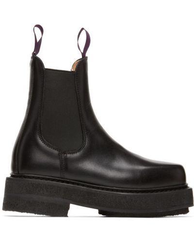 Skórzany czarny buty obcasy na pięcie Eytys