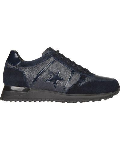 Синие кроссовки замшевые Gianni Famoso