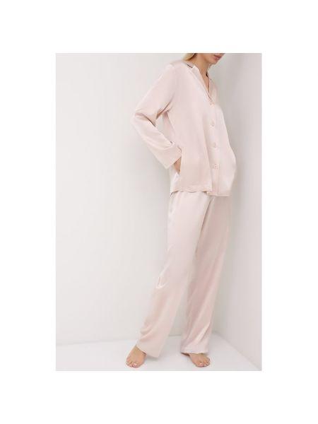 Шелковая розовая пижамная пижама La Perla