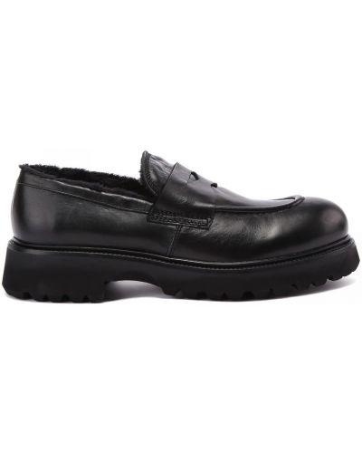 Черные шерстяные туфли Rocco P.