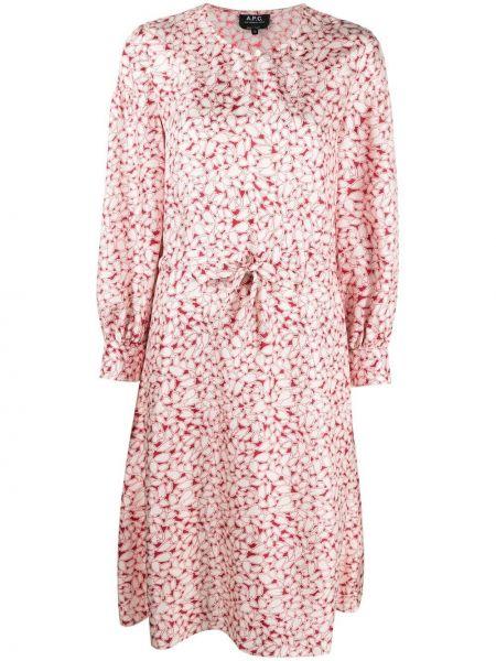 Расклешенное шелковое белое платье A.p.c.