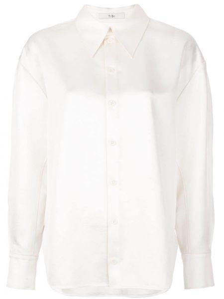 Biała koszula z długimi rękawami - biała Tibi