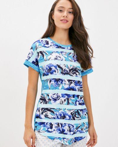 Синяя домашняя футболка селтекс