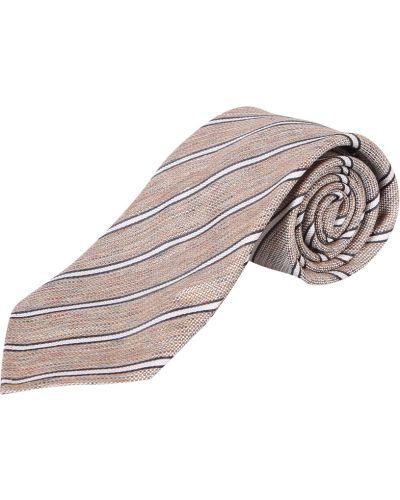 Beżowy krawat w paski Lardini