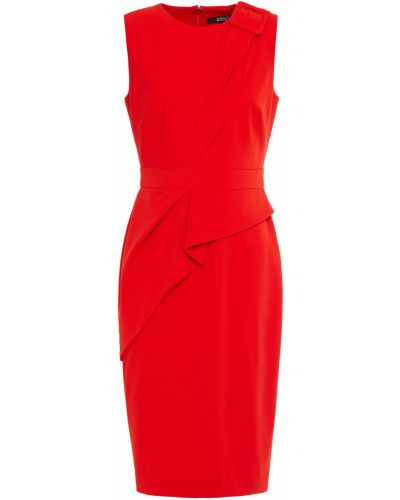 Платье с драпировкой на крючках из крепа Badgley Mischka