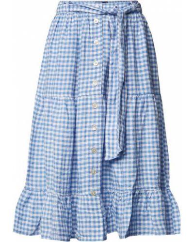 Niebieska spódnica w kratę Polo Ralph Lauren