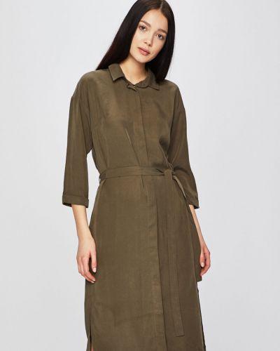 Sukienka mini w pasy zielona Medicine