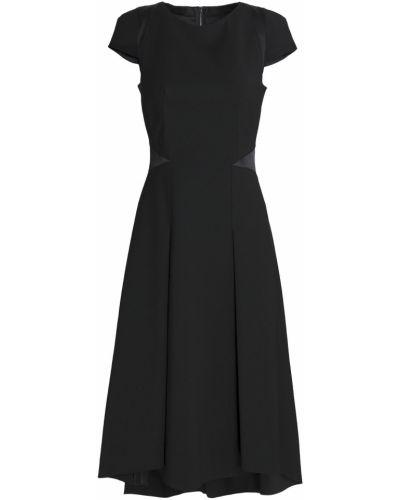 Платье миди атласное - черное Amanda Wakeley