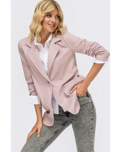 Пиджак в клетку - розовый Dressa