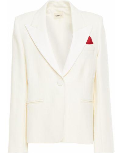 Шерстяной бежевый пиджак с карманами Khaite