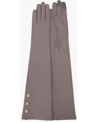 Серые кожаные перчатки Michel Katana