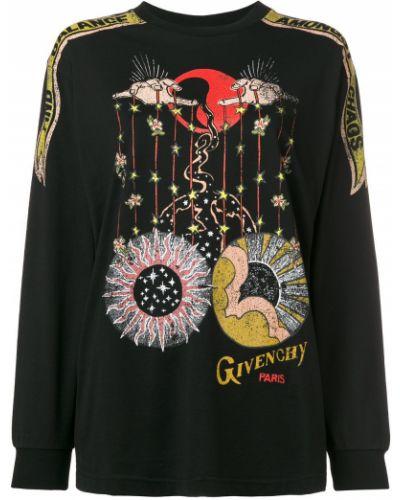 Bawełna z rękawami czarny bluza Givenchy