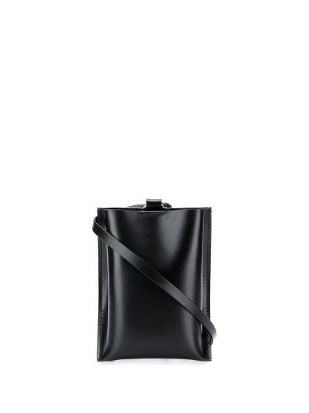 Черная сумка через плечо с перьями Venczel