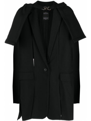 Шерстяной черный пиджак на пуговицах Rokh