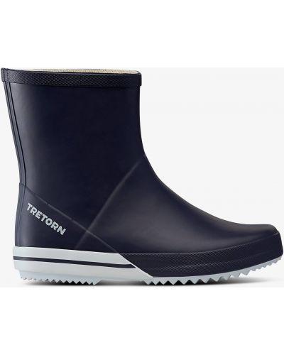 Резиновые сапоги на каблуке - синие Tretorn
