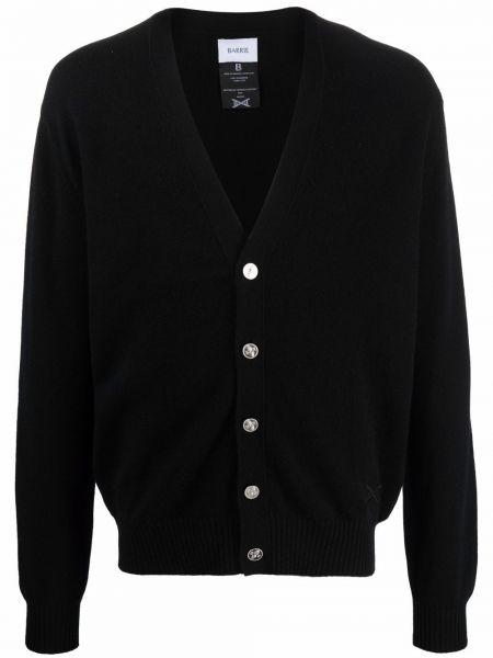 Czarny sweter zapinane na guziki Barrie