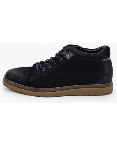 Велюровые синие ботинки Mascotte