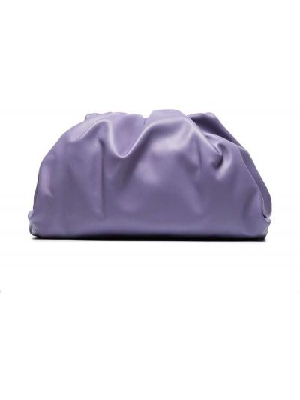 Kopertówka srebrna - fioletowa Bottega Veneta