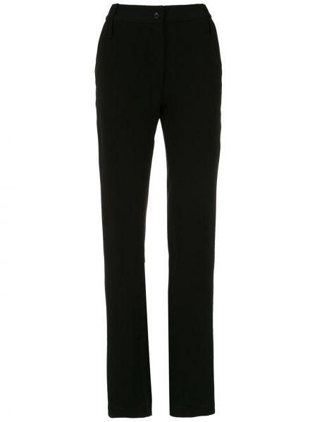 Брючные черные брюки с карманами Gloria Coelho