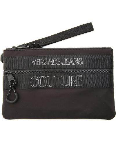 Czarny portfel z nylonu Versace Jeans Couture