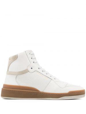 Sneakersy wysokie - białe Saint Laurent
