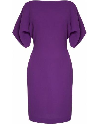 Фиолетовое прямое с рукавами платье Gareth Pugh