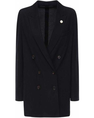 Черный пиджак оверсайз Lardini
