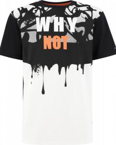 Хлопковая черная футболка свободного кроя Demix