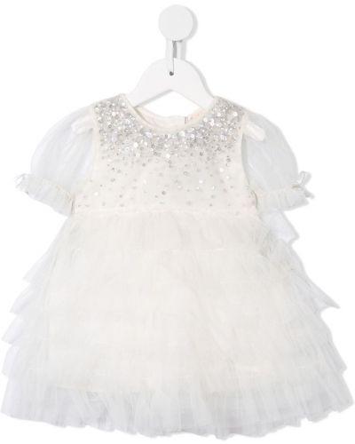 Расклешенное пышное платье на пуговицах с вырезом круглое Tutu Du Monde