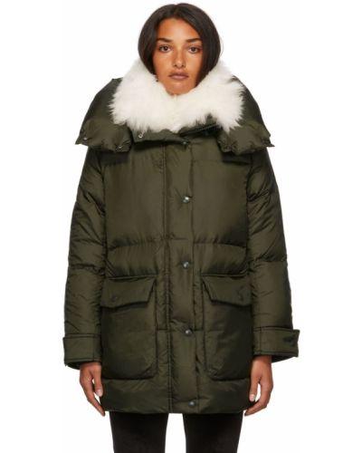 Стеганая куртка - зеленая Yves Salomon Army
