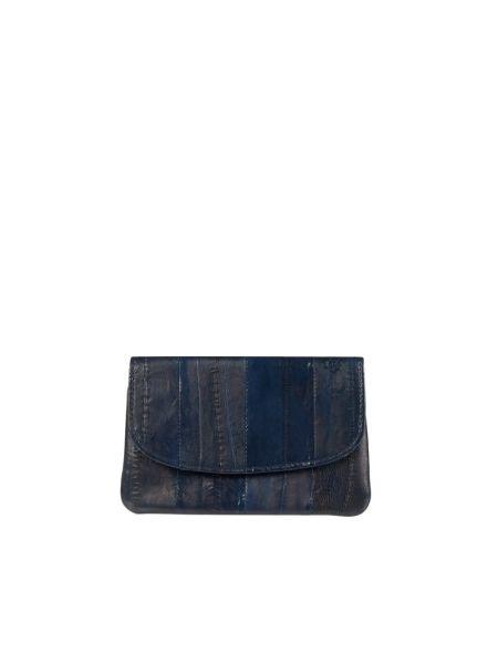 Niebieski portfel skórzany Becksöndergaard