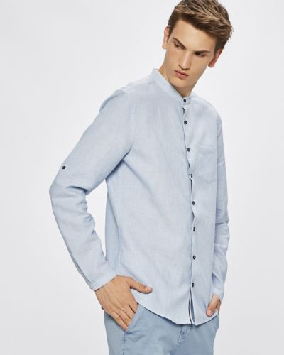 Рубашка с длинным рукавом однотонная с карманами Medicine