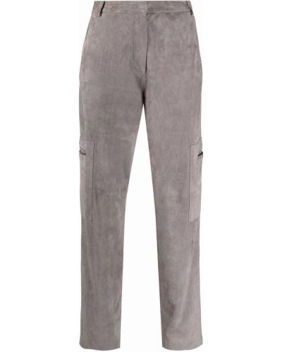 Серые зауженные брюки Fabiana Filippi