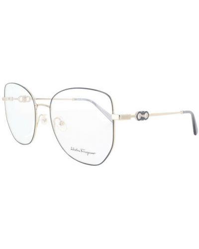 Niebieskie okulary Salvatore Ferragamo
