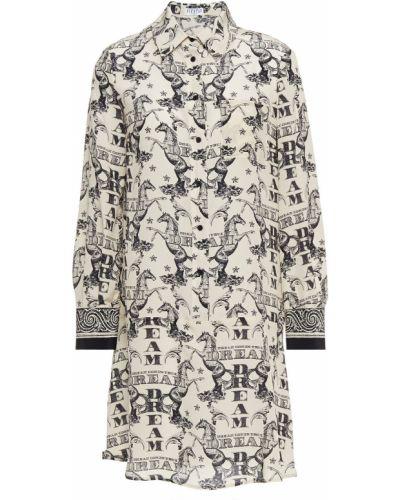 Biała sukienka z jedwabiu Claudie Pierlot